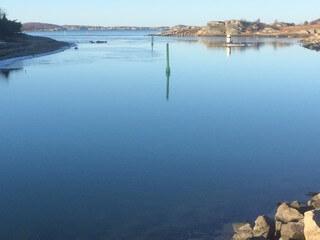 Ut mot inloppet till Fiskebäckshamn